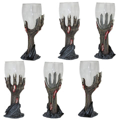 Gothic Zombie Hands Wine Blood Goblet - Set of 6