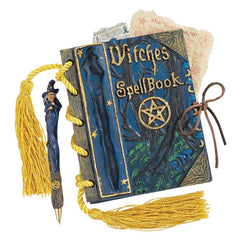"4.5"" Witch Craft Mystic Magic Spell Book and Pen"