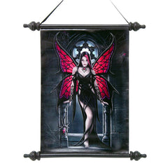 "17"" Classic Spider Fairy Canvas Wall Scroll Tapestry Hanging"