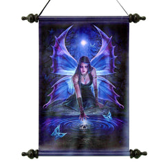 "17"" Immortal Flight Gothic Fairy Canvas Wall Scroll Hanging"