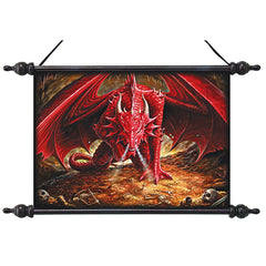 Dragons Lair Wall Scroll Tapestry