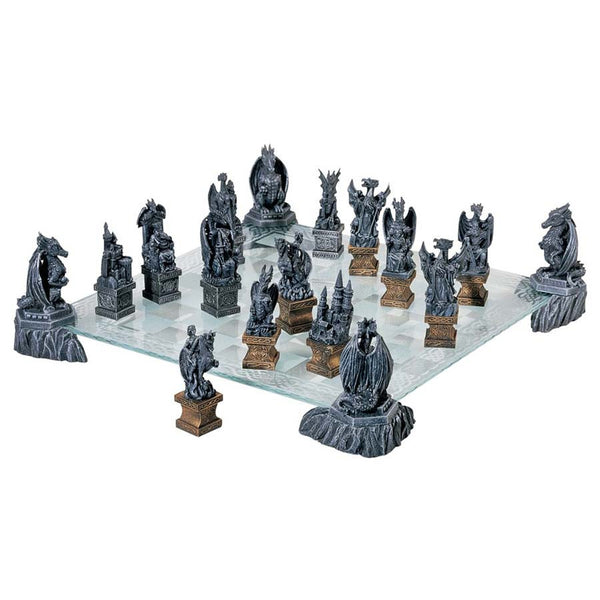 DRAGONS OF THE REALM COMPLETE CHESS SET
