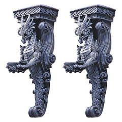 Gothic-style Architecture Dragons Castle Wall Caryatids Shelf Statue Sculptur...