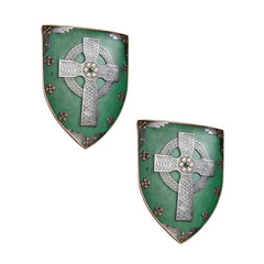 Classic Celtic Medieval Warriors Sculptural Wall Decor Armor Shield - Set of 2