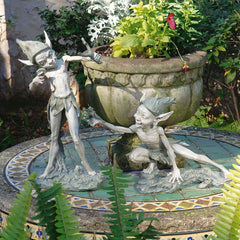 Classic Home Garden Fairy Pixie Collection Sculpture Statue - Set of 2