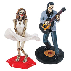 "8"" Legendary Icons Statue Collection: Blonde Bombshell & Rock 'n Roll King Sk..."