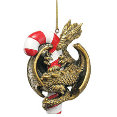 "4"" Dragon with a Sweet Tooth Holiday Ornament"