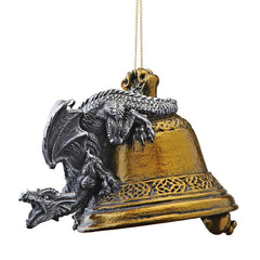 Medieval Gothic Dragon Christmas Holiday Decoration Ornament - Set of 3