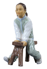 Oriental Youth - Girl On A Bench - Ethnic Collectibles.