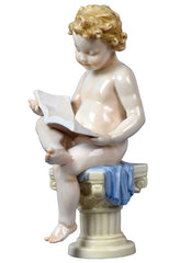 Infant-Reading On Corinthian Column(Large) - Infant