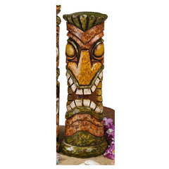 "21"" Tropical Exotic Aloha Hawaii Tiki Sculptures Statue Figurine"