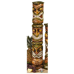 "31"" Exotic Tropical Aloha Hawaii Tiki Sculptures Statue Figurine"