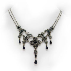 Renaissance-inspired Silver toned Lady Leighton Necklace