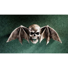 Gothic Skull Wing Wall Sculpture Statue Decor