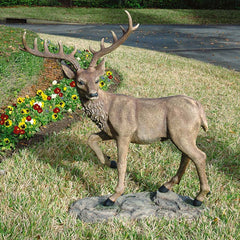 "41""h Large Black Forest Garden Deer Sculpture Statue"