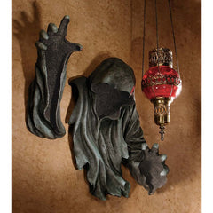 Black Scary Grim Reaper Image Wall Decor Sculpture - Home Garden Decor (Xoticbrands)