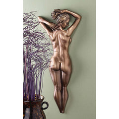 "25"" Bronze Nude Erotic Female Beauty Wall Sculpture Statue Figurine"
