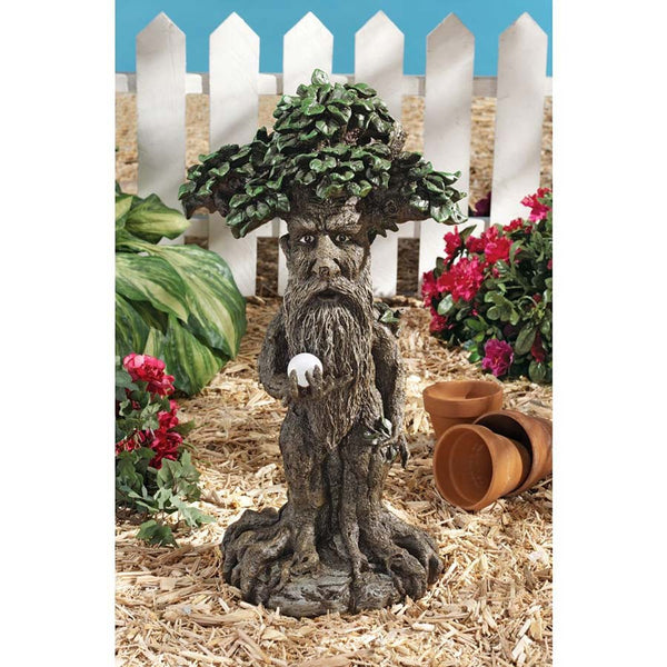 "24"" Treebeard Statue Figure with Mystical Orb Home and Garden Sculpture (XoticBrands)"