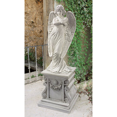 "26½""H Giulio Angel Statue Sculpture (1882)"