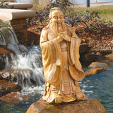 Asian Chinese Confucius Garden Sculpture Statue