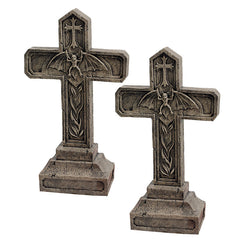 S/2 BALKAN VAMPIRE BLOOD CROSS STATUES