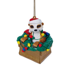 "3"" Merry Meerkat Christmas Holiday Ornament - Set of 3"