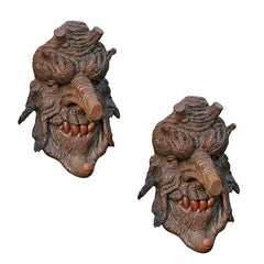 "14"" Home Garden Greenman Tree Sculpture Statue - Set of Two"
