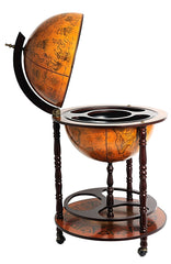 XoticBrands Decor Globe drink cabinet 17 3/4 inches