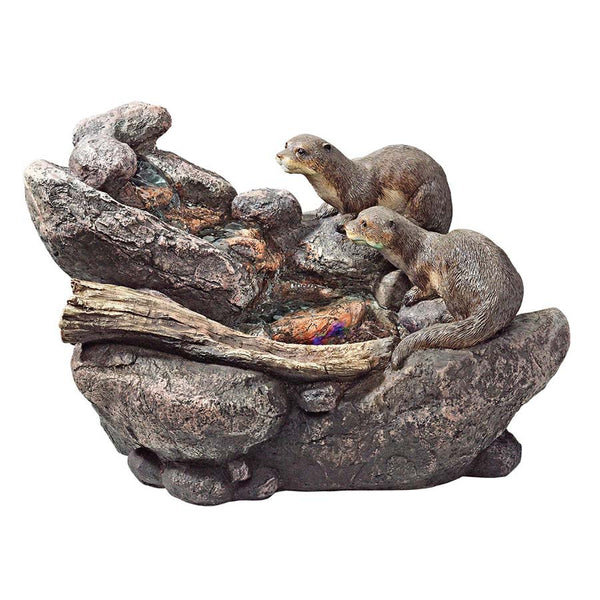 Cute Classic Sea Otters Home Garden Statue Sculpture Fountain