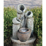 "22"" Meditative Luxury Hadrian's Villa Four Urn Home Patio Garden Fountain (Xoticbrands)"