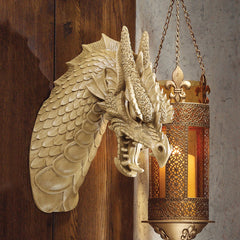 Gothic Castle Medieval Dragon Wall Sculpture Statue Trophy Figurine