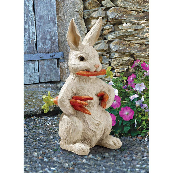 Cute Bunny Rabbit Home Garden Statue