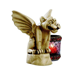 Antique Replica Winged Atop Gargoyle Statue Sculpture Figurine