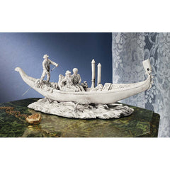 "5"" Romantic Lover Boat Ride Sculpture Statue"