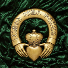 "12"" One Hundred Thousand Welcomes Claddagh Sculptural Plaque"