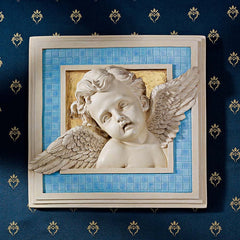 Classic Renaissance Italian Cherub Child Angel Wall Sculpture Decor Christian Art