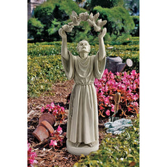 "25"" Classic Doves of Peace Antique Finish Christian Home Garden Statue Sculpt..."