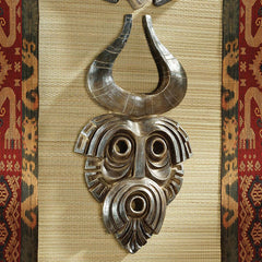 "19.5"" African Tribal Wall Mask: Bamun"