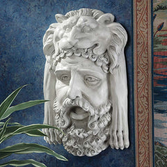 "18"" Classic Greek God Hercules Bust Wall Sculpture Statue"