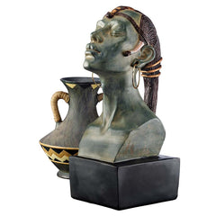"18"" African Egyptian Queen Bust Home Museum Gallery Sculpture Statue (Xoticbrands)"