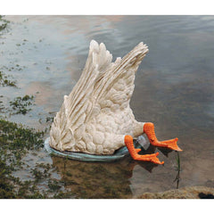 "12.5"" Classic Fishing Duck Goose Floating Bird lake Goose Statue"