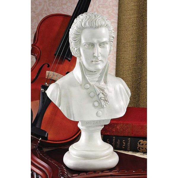 "13.5"" Musical Genius Mozart Bust Desktop Sculptures Statue [Kitchen]"