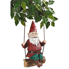 "15"" Gnome Tree Statue Sculpture Figurine"