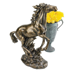 "24"" Bronze Stallion Horse Statue Sculpture Figurine"