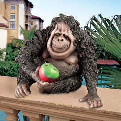"9.5"" Ugly Tropical Monkey Animal Orangutan Home Garden Statue Sculpture"
