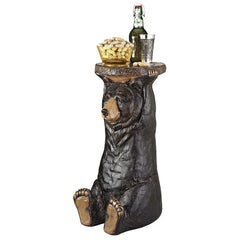 BLACK FOREST BEAR PEDESTAL TABLE