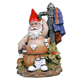 "15.5"" Bathing Home Garden Collectible Gnome Statue Sculpture Figurine"