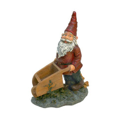 "10.5"" Wheeler Home Garden Collectible Gnome Statue Sculpture Figurine"