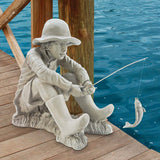 GONE FISHING FISHERMAN STATUE