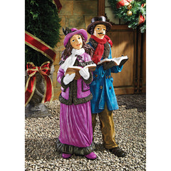 VICTORIAN HOLIDAY CAROLERS STATUE